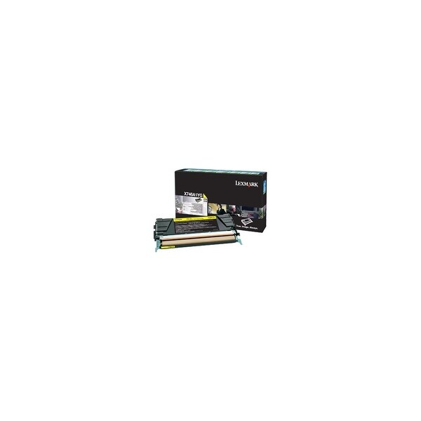 Lexmark X746A1YG Lexmark Toner Cartridge - Yellow - Laser - 7000 Page - 1 Pack