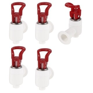 Female Thread Connected Red Grip Water Drinkers Dispenser Faucet x 5