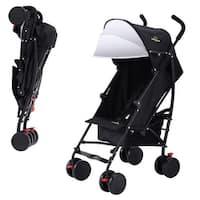 Lightweight Umbrella Stroller Baby Toddler Travel Canopy Hood Storage Basket - Black