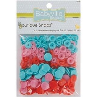 Babyville Boutique Snaps 60-Pkg-Sweet Stuff Hearts- Red, Pink
