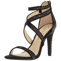 Jessica Simpson Womens Ellenie Fabric Open Toe Special Occasion Strappy Sandals