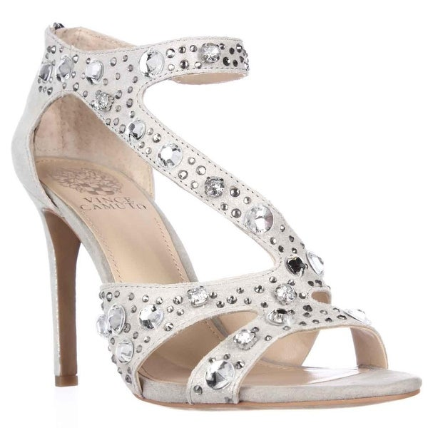 Vince Camuto Kayanne Jeweled Strappy Dress Sandals, Earl Grey - 8 us / 38 eu