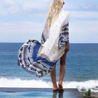Boho Women Kaftan Bathing Suit Cover Up