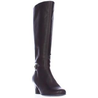 Aerosoles Margarita Chain Harness Knee High Boots - Brown