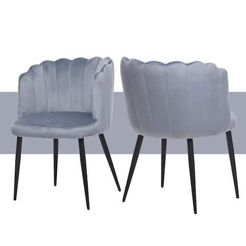 Conchoidal Elegant Accent Velvet Chair for Dinning room