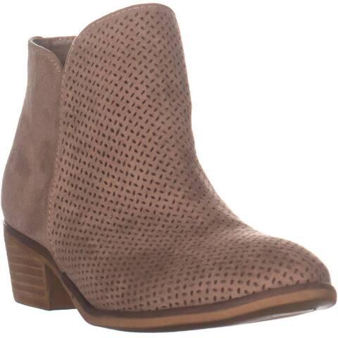 MIA Delvine Cuban Heel Ankle Boots, Stone - 8 US