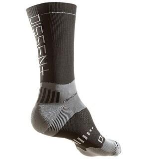 Dissent Supercrew Nano 6in Cycling Compression Socks - Black