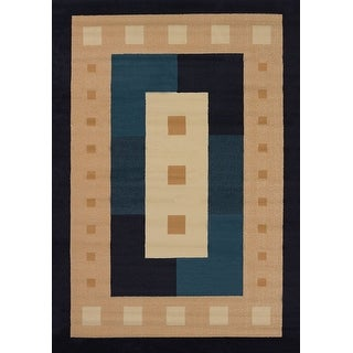 """United Weavers of America Time Square Manhattan Rug Collection, 1' 10"""" by 3', Navy"""