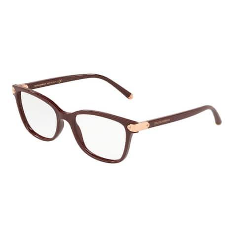 Dolce & Gabbana DG5036 Women's Bordeaux Frame Demo Lens Eyeglasses