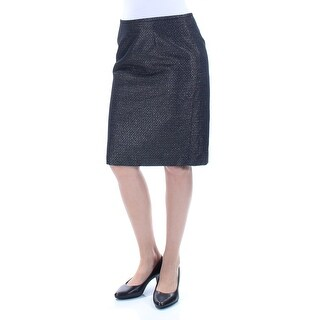 Womens Black Knee Length Wear To Work Skirt Petites Size 6