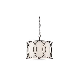 "Canarm ICH320A0320 Monica 3 Light 17-1/2"" High Drum Chandelier - Oil Rubbed bronze"