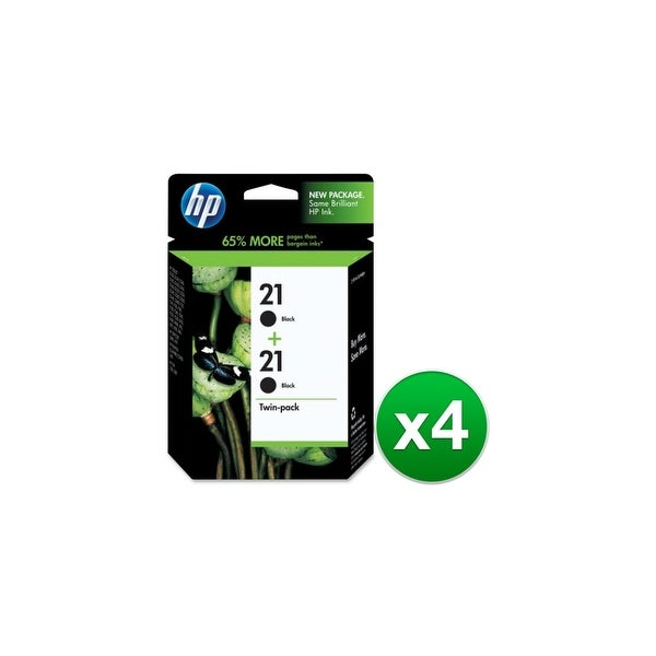 HP 21 Black 2 Original Ink Cartridges (C9508FN) (4-Pack)
