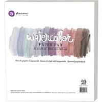 """Prima Marketing Watercolor Paper Pad 12""""X12"""" 20/Pkg"""