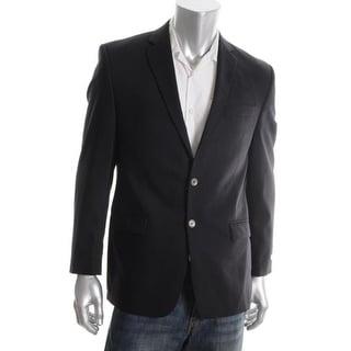 Calvin Klein Mens Sportcoat Wool Blend Long Sleeves - 37S