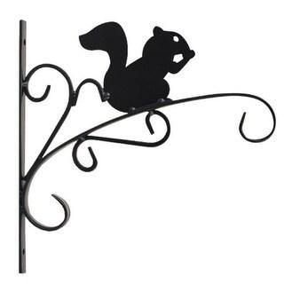 "Mintcraft 540-0742 Squirrel Hanging Plant Bracket, 11"" L, Matte Black, Wall Mount"