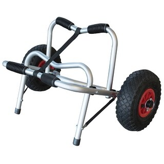 Offex Detachable 10 Inch Pneumatic Wheels Kayak and Canoe Trolley - Silver