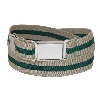 CTM® Kids' Elastic Striped Belt with Magnetic Buckle - One size