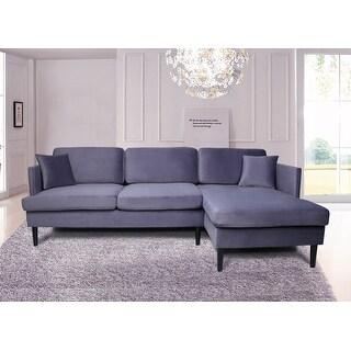TiramisuBest Modern Fabric Velvet Sectional Sofa