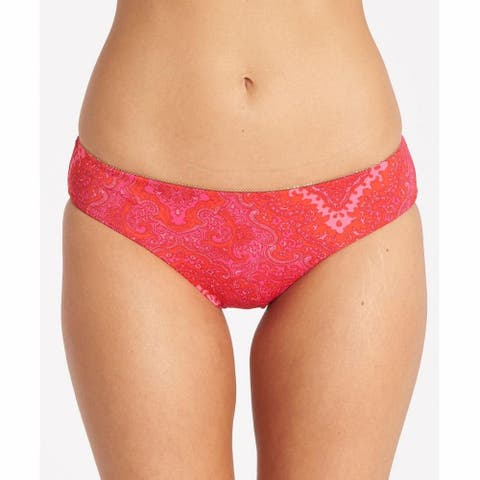 Billabong Women's Damasquerade Hawaii Bikini Bottom, Shaka Pink SZ SMALL
