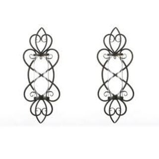 Set of 2 Heart Shaped Candle Wall Sconces