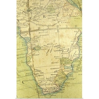 """""""Map of South Africa"""" Poster Print"""