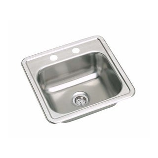 "Proflo PFSR151561 15"" Single Basin Drop In Stainless Steel Kitchen Sink with 1 F"