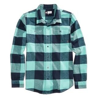 LRG Nile Blue Mens Size 2XL Ill Son Flannel Button Down Shirt