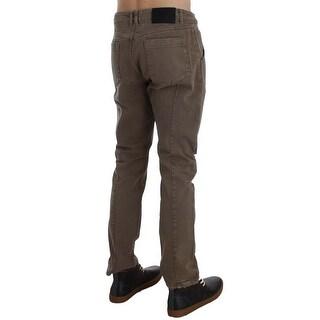 EXTE Beige Cotton Slim Fit Jeans - w34