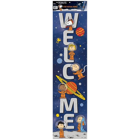 """Peanuts® NASA Welcome Vertical Banner, 12"""" x 45"""" - One Size"""