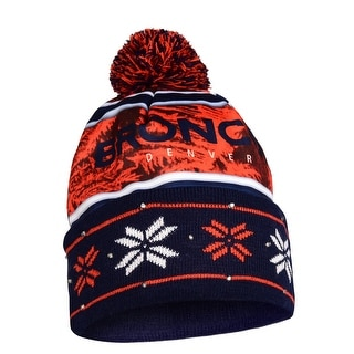 Denver Broncos Wordmark Light Up Printed Winter Hat