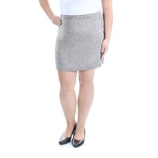 RALPH LAUREN $598 Womens New 1046 Silver Beaded Above Knee Pencil Skirt 14 B+B