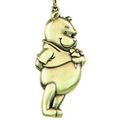 Disney Pewter Key Ring Winnie the Pooh - Multi