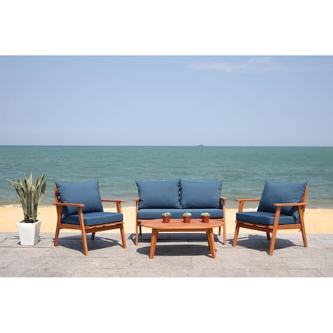 Safavieh Outdoor Living Deacon 4-piece Living Set