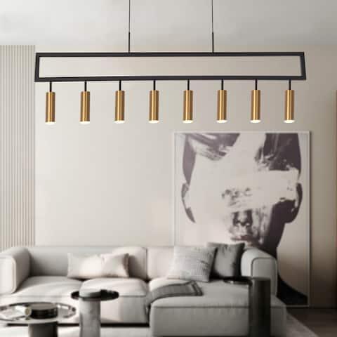 Minimalist Cylinder 8-Lights LED Pendant Light