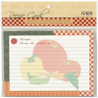 "MBI Recipes Additional Cards 25/Pkg-5""X7"""