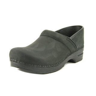 Dansko Narrow Pro Women Round Toe Leather Black Clogs