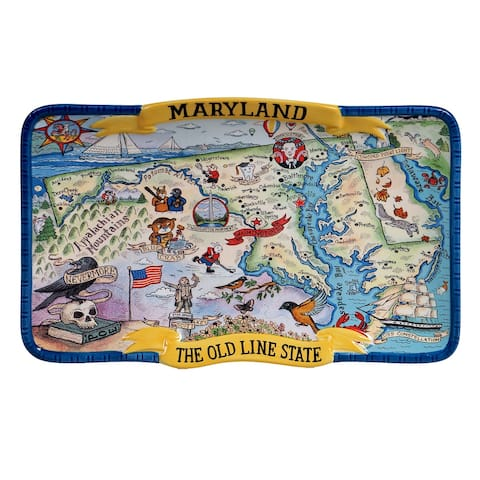 Certified International Maryland Souvenir Rectangular Platter