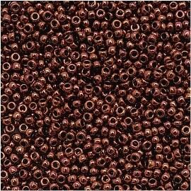 Toho Round Seed Beads 15/0 222 'Dark Bronze' 8 Gram Tube