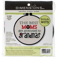 "Dimensions/Stitch Wits Mini Stamped Embroidery Kit 6"" Round-Grandma-Stitched In Thread"