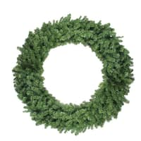 "48"" Canadian Pine Artificial Christmas Wreath - Unlit - green"