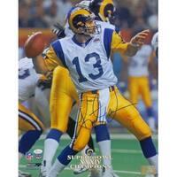 Kurt Warner Signed St. Louis Rams Super Bowl XXXIV 16x20 Photo JSA