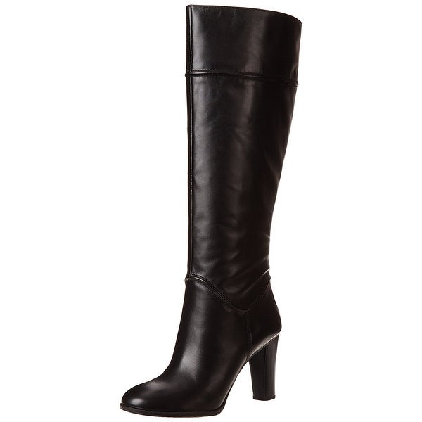 Enzo Angiolini Womens Sabyl Leather Almond Toe Knee High Fashion Boots