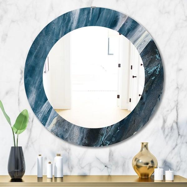 Porch & Den 'Splash Blue Indigo' Modern Mirror. Opens flyout.