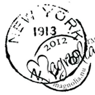 """With Love Cling Stamp 6""""X2.75"""" Package-New York"""