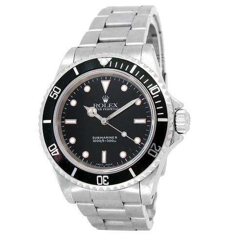 Pre-owned 40mm Rolex Stainless Steel Submariner No Date Watch - 7 inches