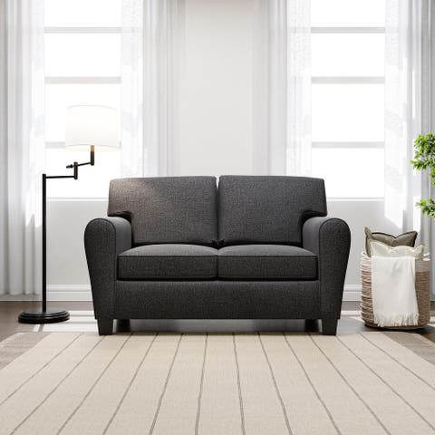 "Brookside Abby 64"" Upholstered Rolled Arm Loveseat"