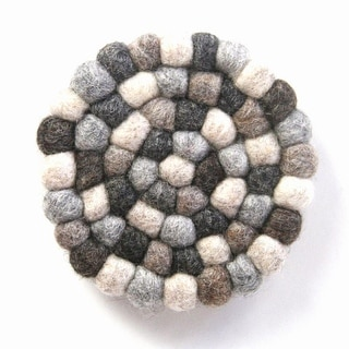 Link to The Curated Nomad Southard Neutral Felt Ball Trivet Similar Items in Cooking Essentials