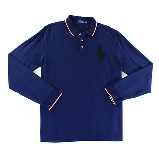 Polo Ralph Lauren NEW Blue Mens Size XL Embroidered Polo Rugby Shirt