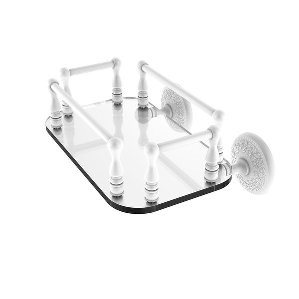 Allied Brass Monte Carlo Collection Wall Mounted Glass Guest Towel Tray