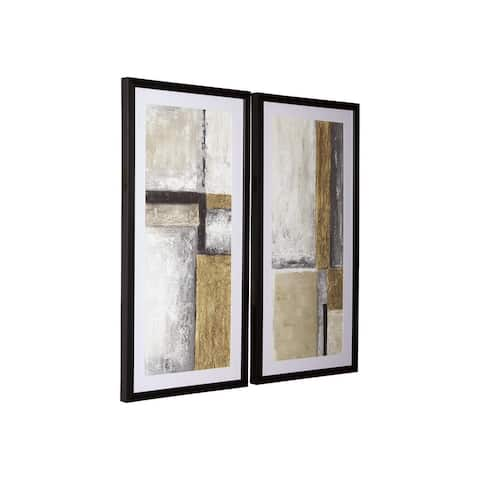 Jaxley Contemporary Multi-Color Abstract Wall Art - Set of 2